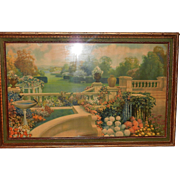 Classic Art Deco Robert Atkinson Fox Framed Art