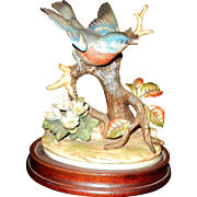 Vintage Bluebird Bisque Porcelain Figurine by Andrea