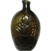GIII-4 Cornucopia Urn PINT Olive  McKearin Glass Historical Flask Bottle