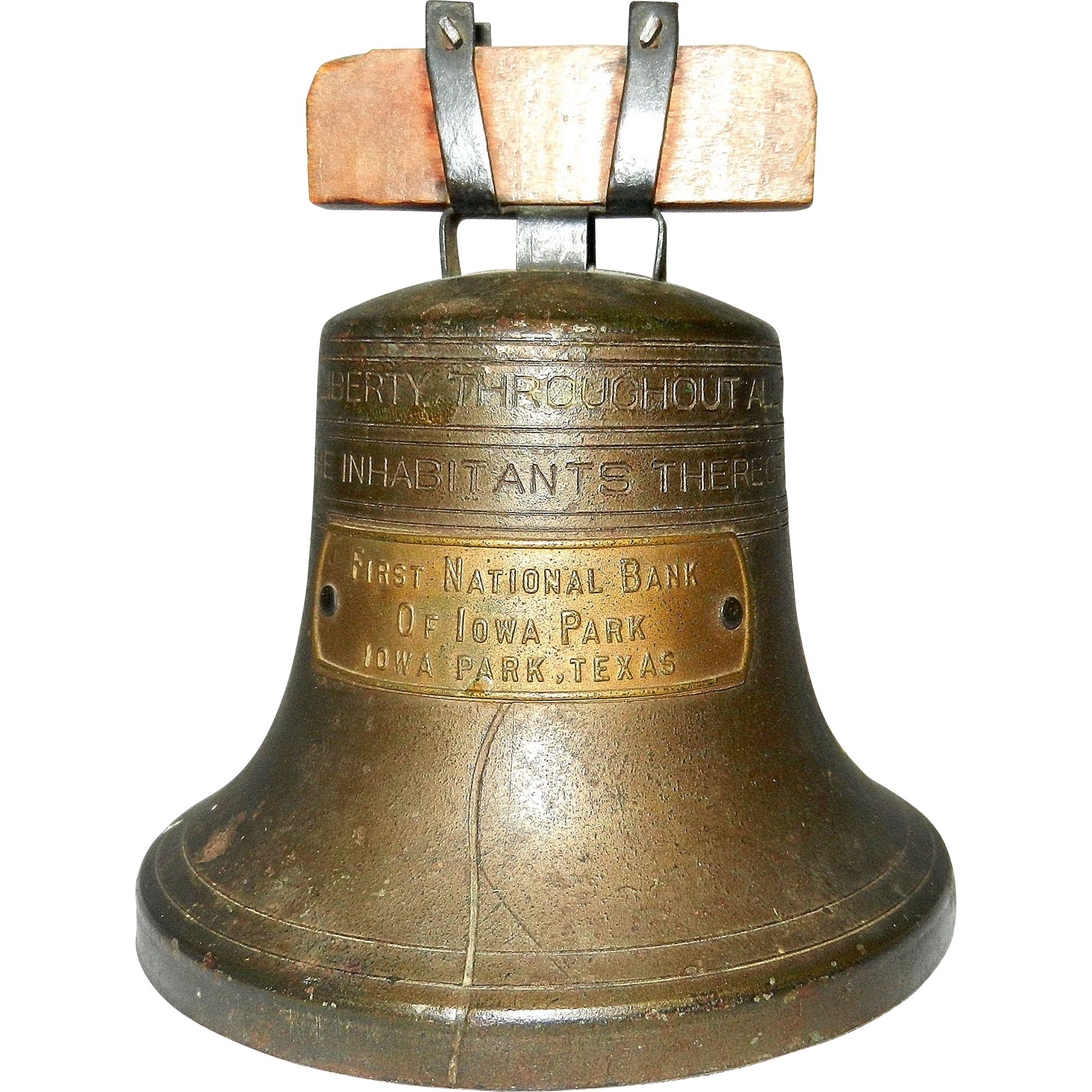 Vintage Liberty Bell Bank By Bankers S Amp C System Co Of