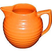 Bauer California Pottery Orange Red One Quart Ring Pitcher
