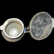 Antique Salt Glaze Stoneware Gesundheit Pitcher