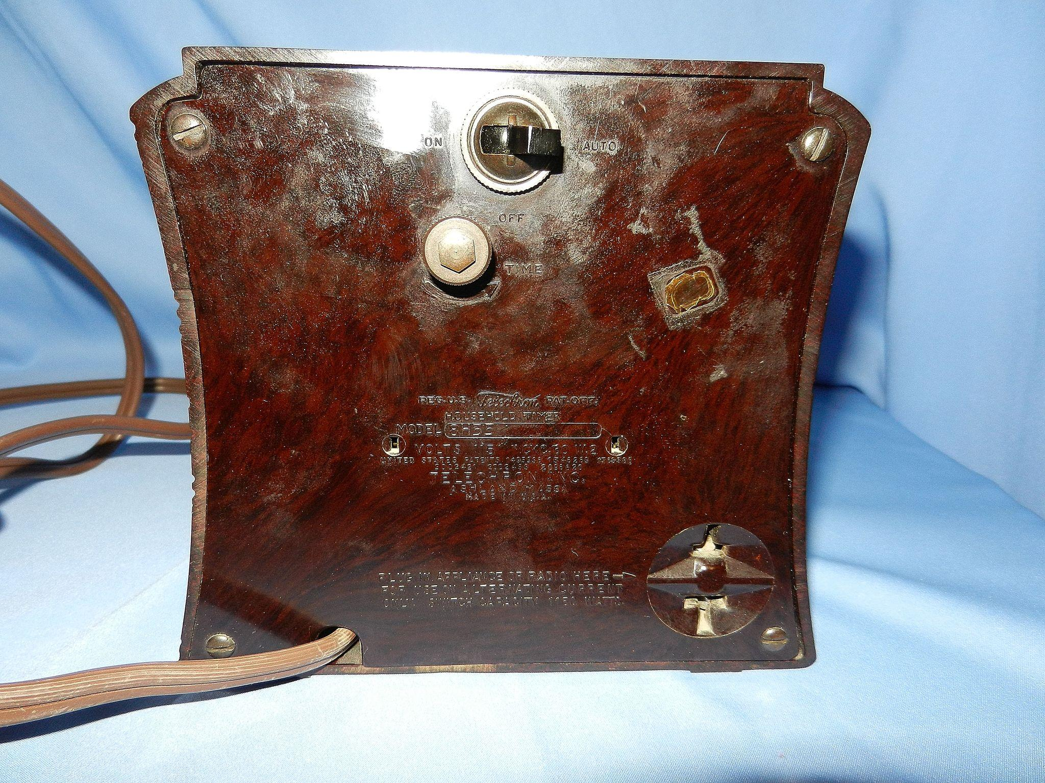 vintage telechron 8h55 deco style selector mantle clock sold on ruby
