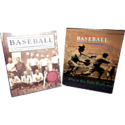 Vintage Sports Book- Baseball An Illustrated History- Ward and Burns PBS Companion Edition.