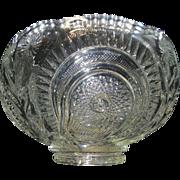 Vintage U.S. Glass EAPG Slewed Horseshoe/Radiant Daisy/ Peacock Punch Bowl