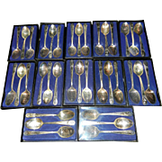 Set of 36 Presidential Commemorative Silver Plated Spoons -  by William Rogers Mfg. Co. USA.