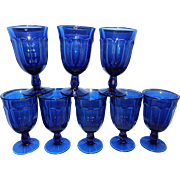 Noritake Provincial Colonial Dark Blue Water Glasses