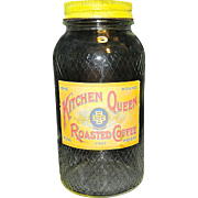 Vintage Kitchen Queen Glass Coffee Jar