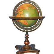 Vintage Kittinger Company 8-Inch Terrestrial Table Globe Buffalo, New York: c. 1927-30
