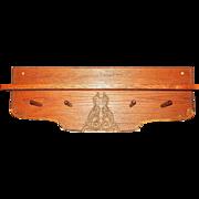 Vintage Solid Oak Coat or Hat Rack