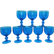 Vintage Blue Water or Tea Goblets