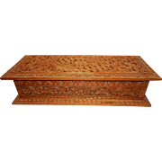 Vintage Large Carved Wooden Jewelry Box - Red Tag Sale Item