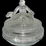 Vintage Annette Art Deco Powder or Trinket Jar- L. E. Smith 1930's