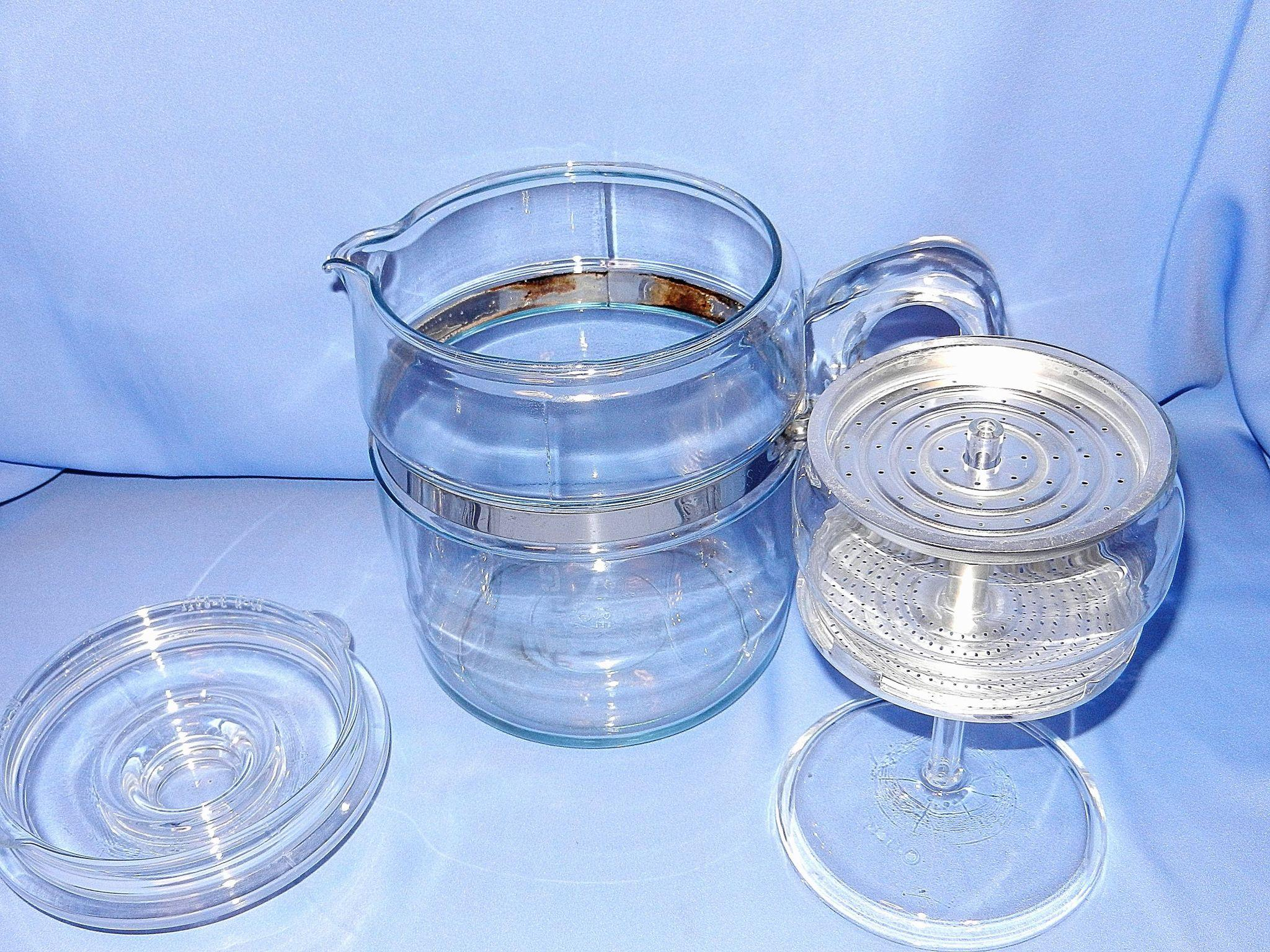 Vintage Pyrex Flameware 6 9 Cup Stove Top Coffee Pot