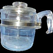 Vintage Mid Century Pyrex Flameware 4-6 Cup Stove Top Coffee Pot Percolator