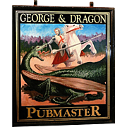 Original Hand Painted Double Sided Tin English Pubmaster Sign