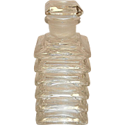 Vintage Square Crystal Perfume Bottle