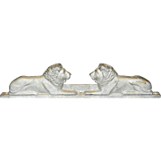 Vintage Cast Aluminum Lion Gate Topper