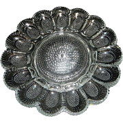 Vintage Clear Indiana Hobnail Deviled Egg Platter