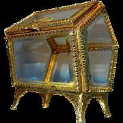 Vintage 24 kt Gold Plate Stylebuilt Jewelry Casket