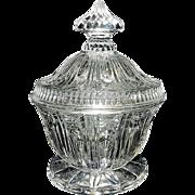 Vintage Glass Sugar Bowl