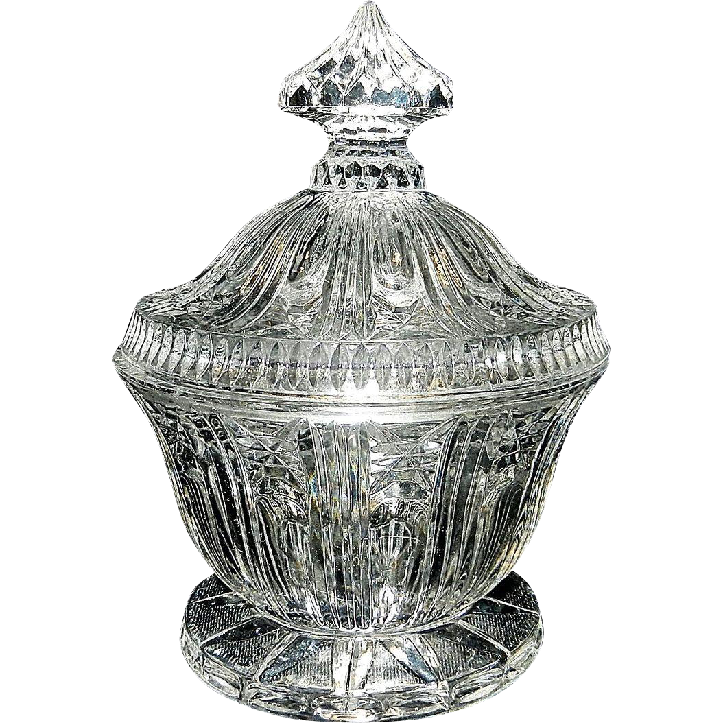 Vintage glass sugar bowl from mygrandmotherhadone on ruby lane