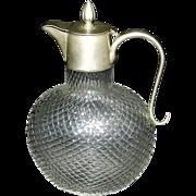 Vintage German Glass Syrup Pitcher