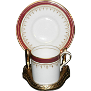 Vintage Aynsley Durham Demitasse Cup and Saucer Bone China