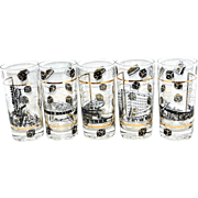 Vintage 1950's Las Vegas Casino High Ball Tumblers