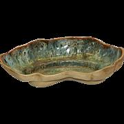Vintage Mid Century Flora Hammat Original Ceramic Clam Shell Bowl