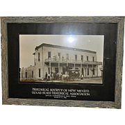 Vintage Western Picture 1887 Rio Grande Hotel in New Mexico