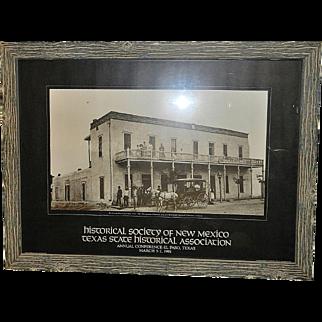 Vintage Western Picture 1887 Rio Grande Hotel in New Mexico