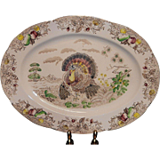 Vintage Transferware Large Turkey Platter