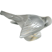 Vintage Lalique Frosted Glass Sparrow