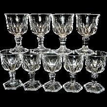 Vintage Cristal d'Arques/Durand Chaumont pattern Water Goblet