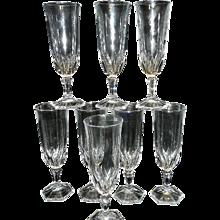 Vintage Cristal d'Arques/Durand Chaumont pattern Champagne Flute
