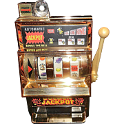 Vintage Waco Golden Jackpot Toy Slot Machine