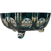 Vintage Clear Cut Glass Bowl