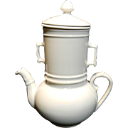 Vintage Pillivuyt Porcelain Biggin Coffee or Teapot