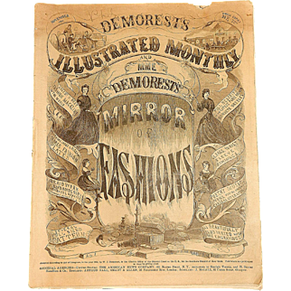 Antique Demorest's Illustrated Monthly Mirror of Fashion Nov. 1864
