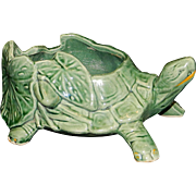 Vintage McCoy Turtle with Water Lilies Planter