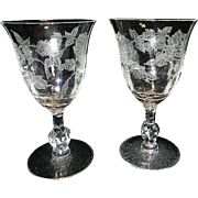 Heisey Rose Water Goblets