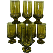 Vintage Franciscan Madeira Olive Green Tea Glasses