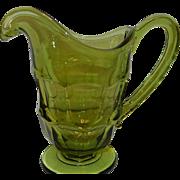 Vintage Fostoria Argus Green Creamer