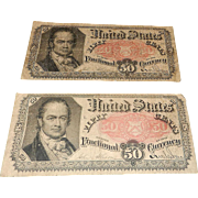 Fifth Issue 1875 Fifty Cents Fractional Currency