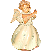 Vintage ANRI Hand Carved Wood Musical Angel with REUGE Music Box Plays Brahms Lullaby