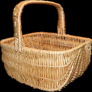 Vintage Large Hand Woven Buttock Basket