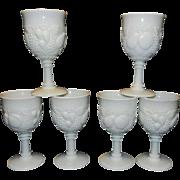 Vintage Westmoreland Della Robbia #1058 Water Goblet