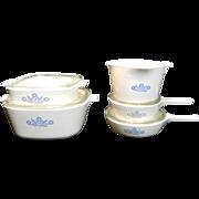Vintage 12-Piece Cornflower Blue Corning Ware Set