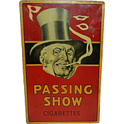 Antique Carreras London Passing Show Cigarettes Litho Pictorial Tin